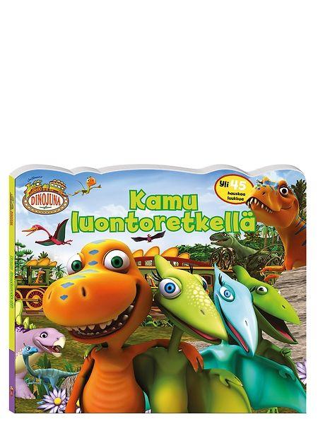 Dinojuna, Kamu luontoretkellä -kirjaa tutkimalla ja luukkujen alle kurkkimalla lapsi oppii muun muassa värejä, vastakohtia ja yhdistämistä. Lähde Kamun ja ystävien kanssa luontoretkelle! Hauskassa tarinassa tutkitaan jalokiviluolaa, leikitään, etsitään dinovauvoille oikeat äidit ja ihaillaan rantamaisemia.