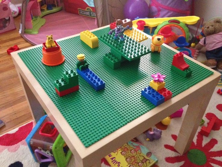 LEGO Table Made With IKEA Lack Table