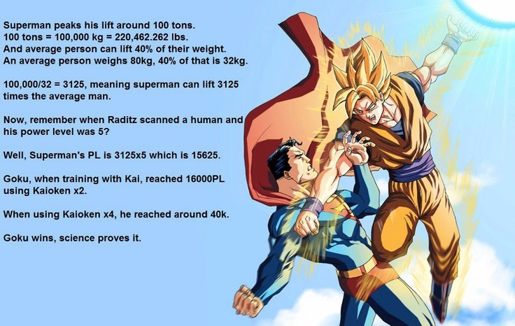 Goku beats Superman. Science proves it! | DBZ | Pinterest ...