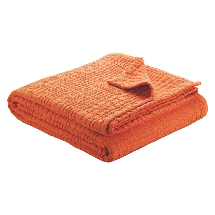 RENWICK Orange matelasse bedspread