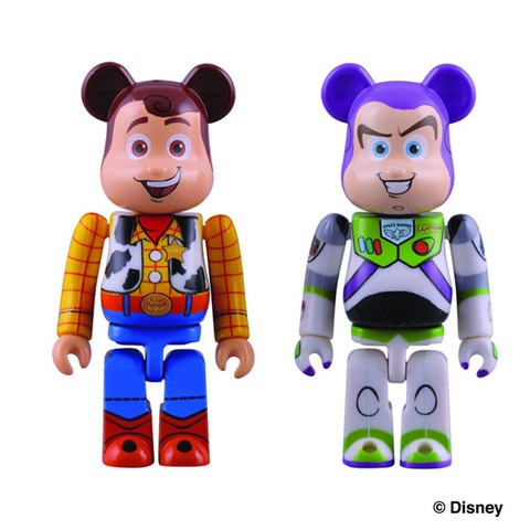 Toy Story 3 x Bearbrick Buzz & Woody Minifigures