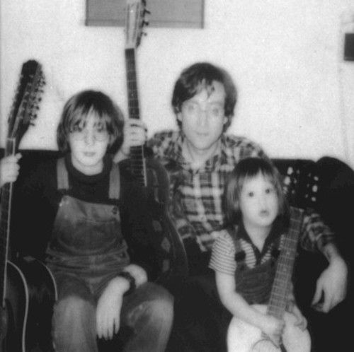 Julian & Sean with their Daddy (stated to be one of the last photos taken with John)