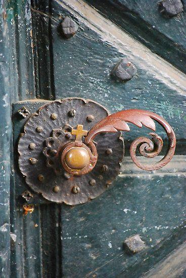 Abbey of Heisterbach Germany. Beautiful door handle. & 515 best Door hardware - knockers knobs levers handles etc ...