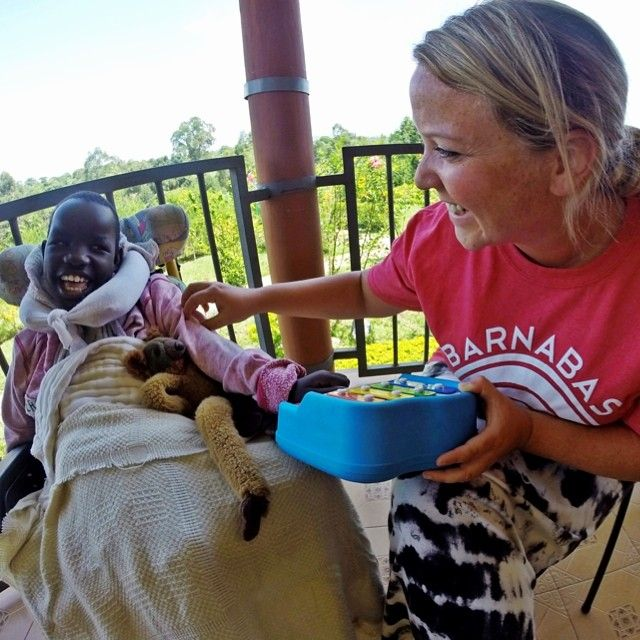 Team Barnabas Member Megan Blaze On Assignment Encourages Little Chepchumba While At The Living Room Hospice In Kenya