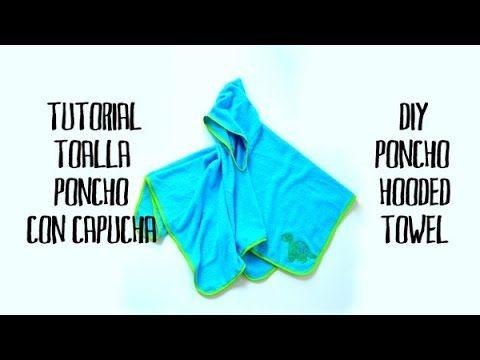 Cómo hacer una toalla para niño tipo poncho con capucha | El Rincon de Fri-Fri