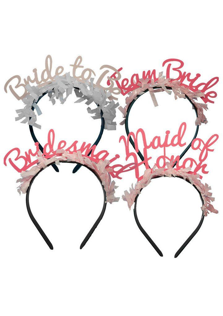 Our bridal headbands are not only fun but have a modern twist on the typical wedding headband attire. These bridal crowns are the perfect bridal headband and bachelorette headbands. Comes with 10 brid
