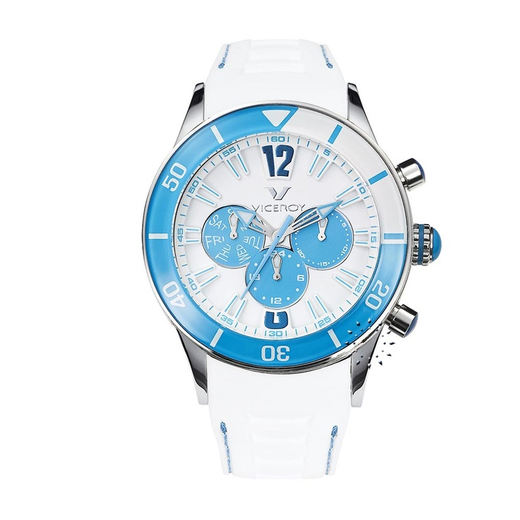 VICEROY Multifunction White Rubber Strap  138€  http://www.oroloi.gr/product_info.php?products_id=26808