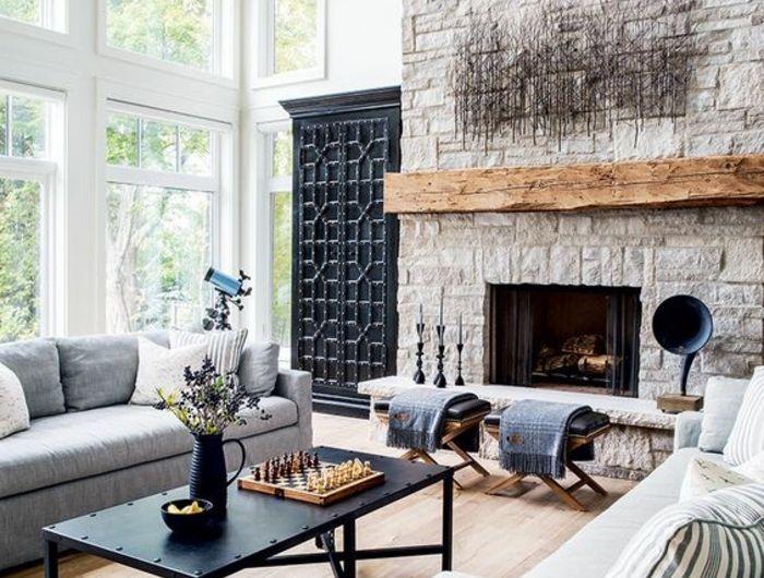 Die besten 25+ Grauer kamin Ideen auf Pinterest Kaminideen - wohnwand mit kamin