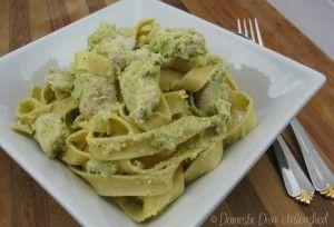 Domestic Diva: Celery Pesto Chicken Pasta in the Varoma.