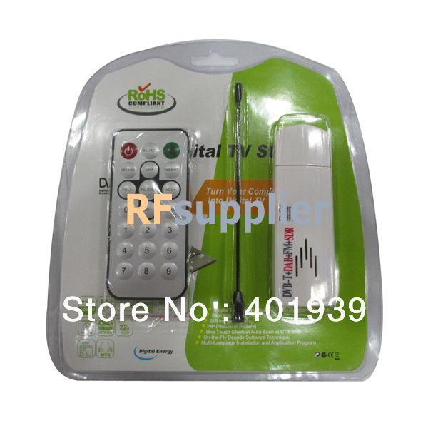 New Hot ROHS Digital TV USB Stick FM+DAB DVB-T T2 RTL2832U+FC0013B Support SDR DVB-T T2