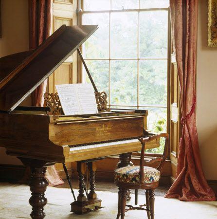 Steinway rosewood grand piano