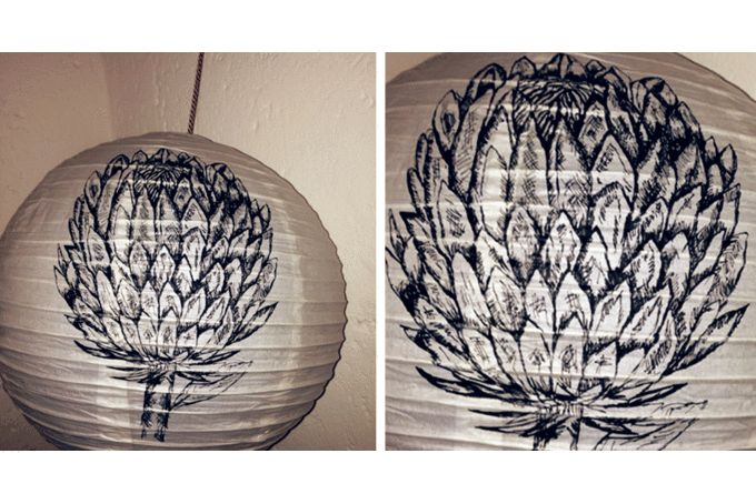 Hand illustrated paper lanterns by Autumn Breeze