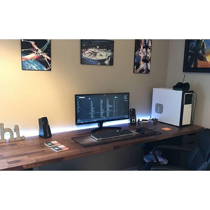 107 besten arbeite m nnerzimmer bilder auf pinterest b ros gamer zimmer und b ro ideen. Black Bedroom Furniture Sets. Home Design Ideas