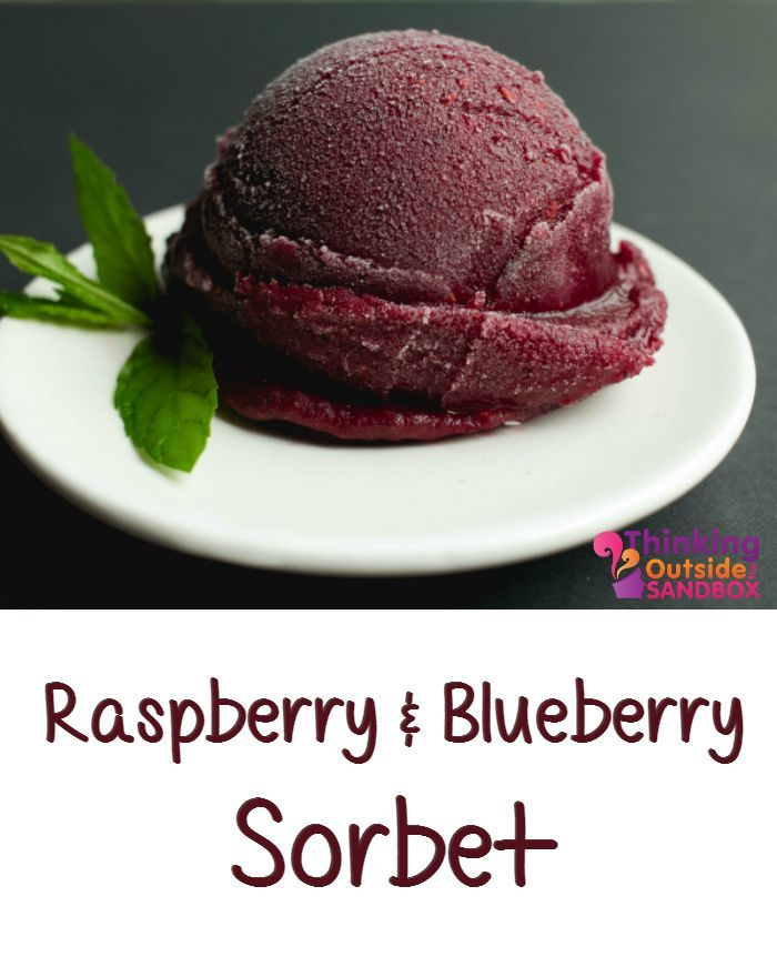 Raspberry Blueberry Sorbet