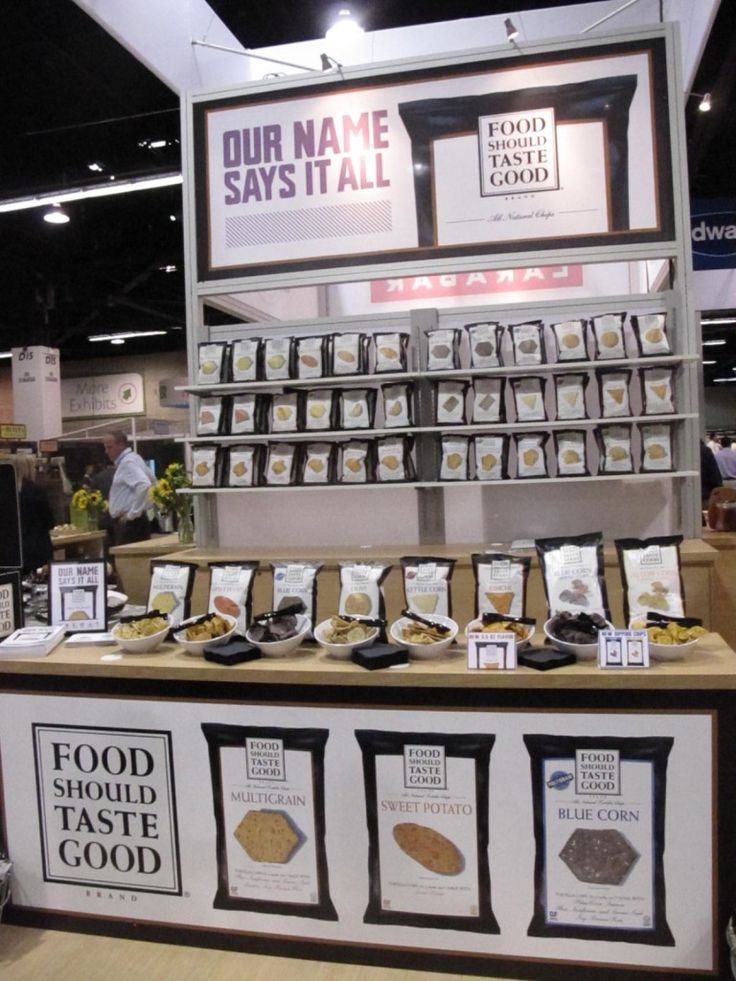 Food Should Taste Good Trade Show Displays Pinterest