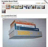 Floating bookshelf (with secret compartment - ooh, intrigue!)