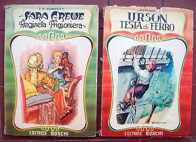 1954 Libro Due Romanzi Per Ragazzi Casa Editrice Boschi Di Milano: Illustrati