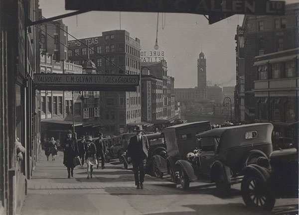 Wentworth Ave And Railway Station Sydney 1930