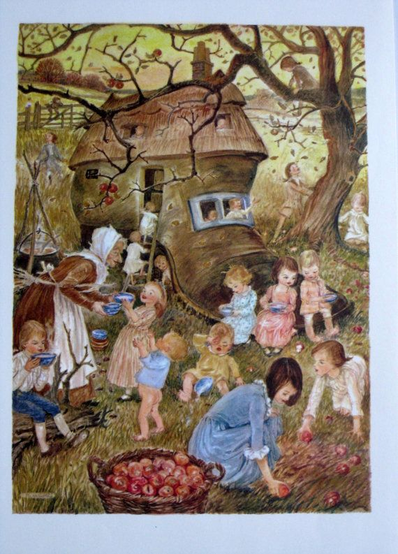 There Was An Old Woman Who Lived In A Shoe Vintage Children S Book Ilration Nursery Art Marguerite De Angeli Mother Goose Rhymes 2018