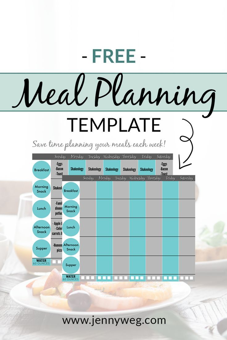 Need help meal planning? Grab this free printable to save time organizing your family's meals today! This template is perfect for beginners and the exact printable I use to meal plan for my family of 3. Click through to grab your free copy now! #mealplanning #momlife #momblogger | Meal Planning Printable | Meal Planning For Beginners | Meal Planning Template