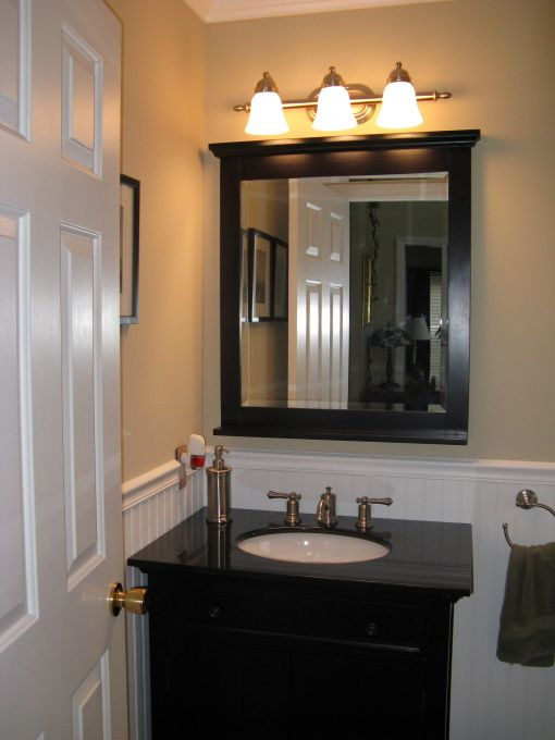 Half Bath Remodel  Out with the  standard builder  bath and updated with our24 best Half Bath Remodel images on Pinterest   Bathroom ideas  . Half Bath Renovation Ideas. Home Design Ideas