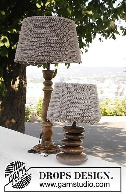 Ravelry: 144-15 Lucida - Lamp shade covers in Nepal pattern by DROPS design