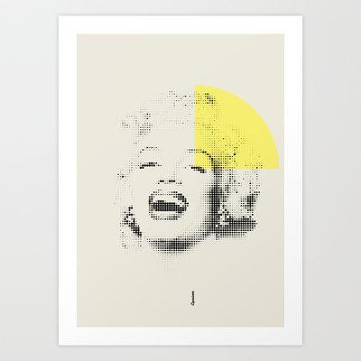 Marilyn Monroe   Esperantos   Dot-file #1 Art Print by Esperantos - $18.00