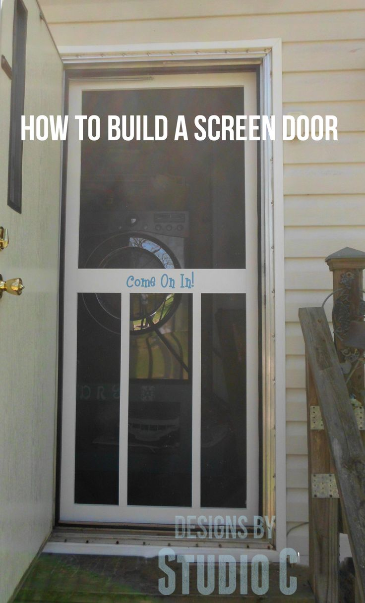 How to build a screen door because my back door opens out for Screen for door that opens out