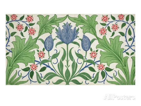 Floral Wallpaper Design Giclee Print by William Morris at AllPosters.com