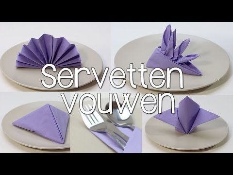 Doblar servilletas de papel para mesa: Estrella - Servilleta de Navidad - YouTube
