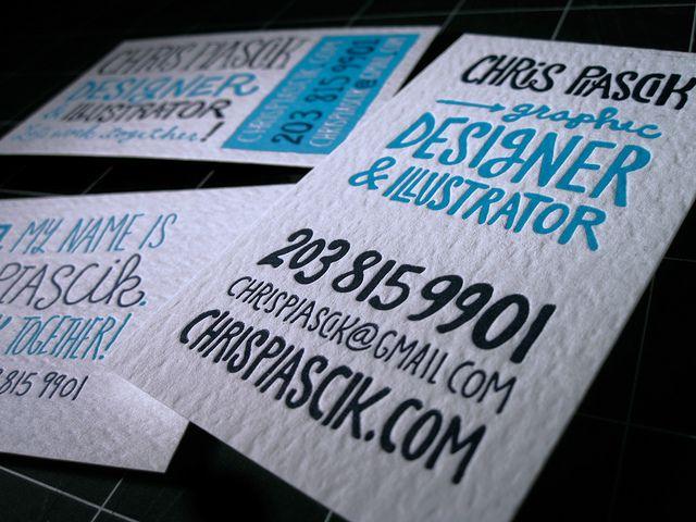 Letterpress business cards by Chris Piascik, via Flickr