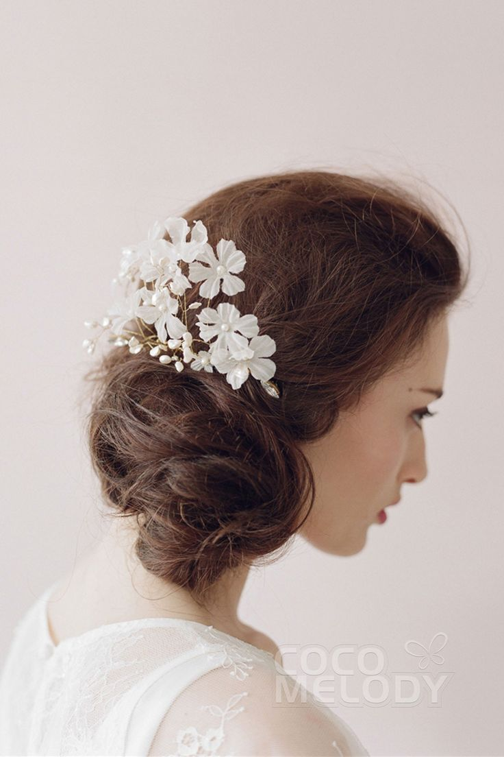 Eye-catching Ivory Wedding Headpiece with Pearl SAH004 #cocomelody
