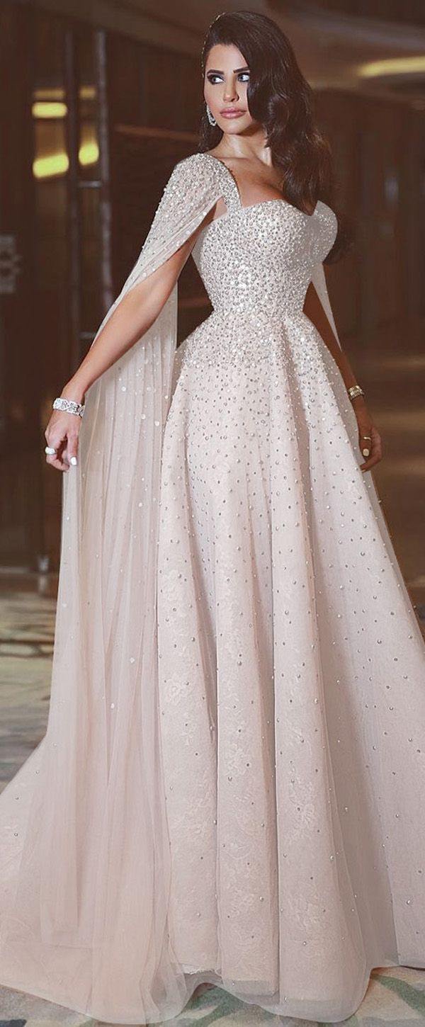 Marvelous Tulle Sweetheart Neckline A-line Evening Dress With Beadings