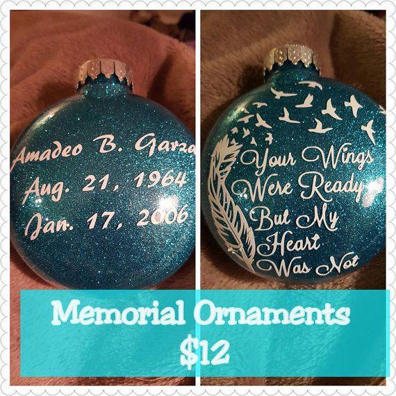 25 unique Memorial ornaments ideas on Pinterest  In memory