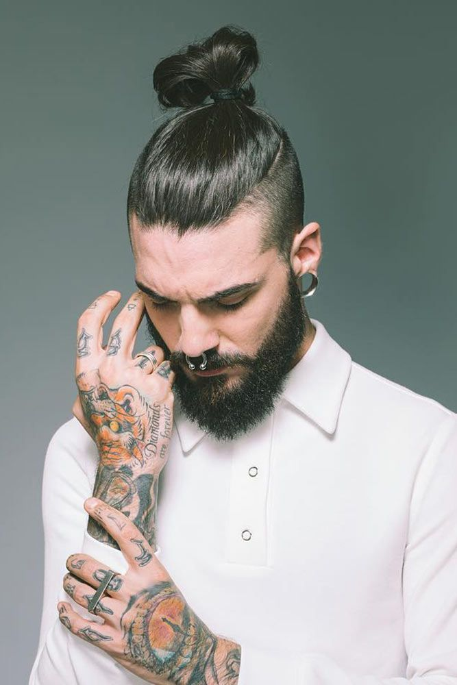 How To Get Style And Sport The On Trend Man Bun Hairstyle Men S
