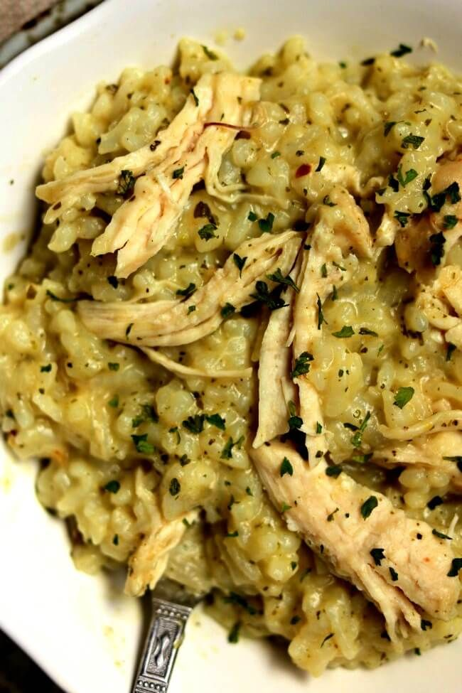 Instant Pot Pesto Chicken Risotto 365 Days Of Slow Cooking And Pressure Cooking Recipe Chicken Risotto Risotto Recipes Slow Cooker Risotto Recipes Chicken