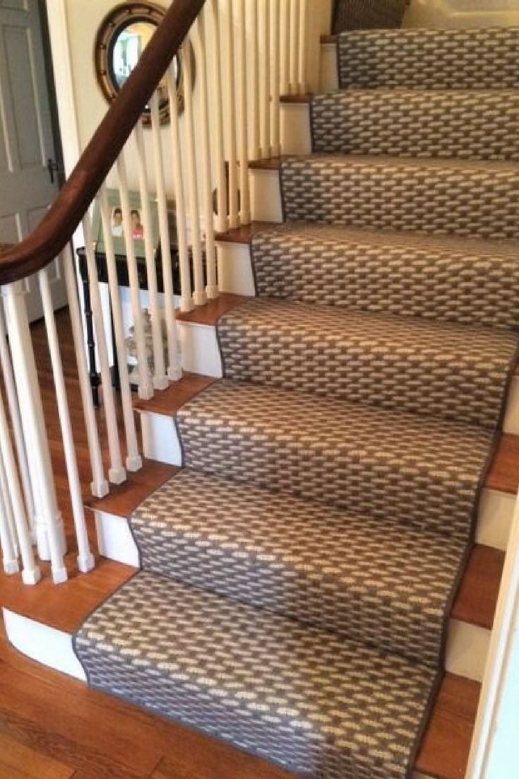 A thick, tight weave dyed in neutral tones of grey, this natural fiber  weave  Carpet Stair RunnersModern ...