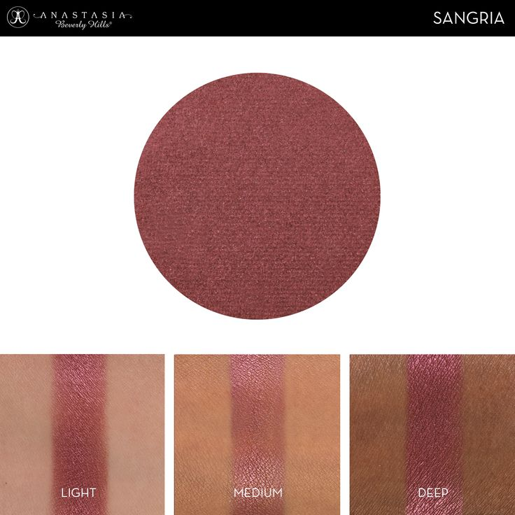 Eye Shadow Singles with skin swatch in the shade Sangria ...