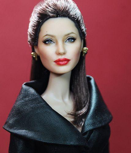Angleina Jolie by Noel Cruz by ncruzdollart, via Flickr