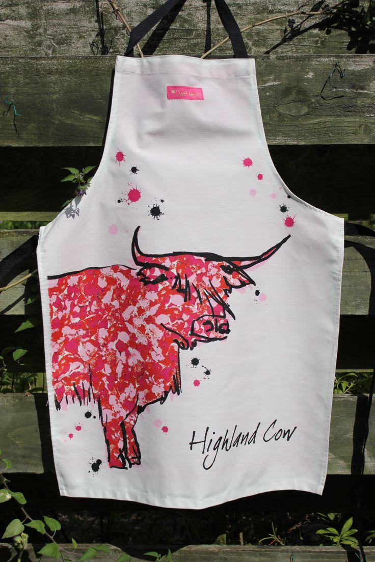 White tea apron -  23 65 Highland Cow Apron Http Www Onemoregift Co Uk