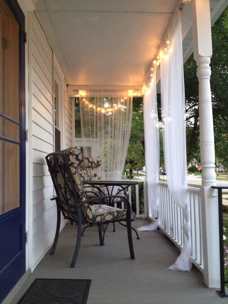15 Must See Front Porch Curtains Pins Screened Porch