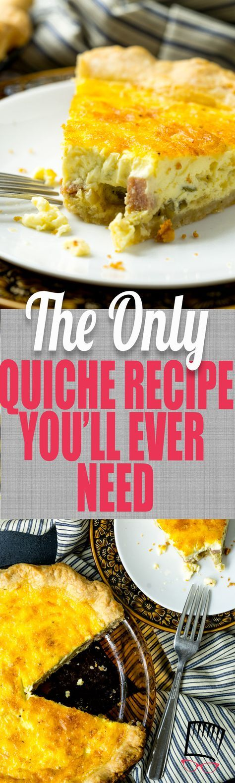 This is the quiche recipe of all quiche recipes and can be tailored to your taste by switching out the mix-ins. BUT, it's the egg custard that is the shining star here-- creamy, dreamy, and delicious! #calripeolives @CalRipeOlives #sponsored