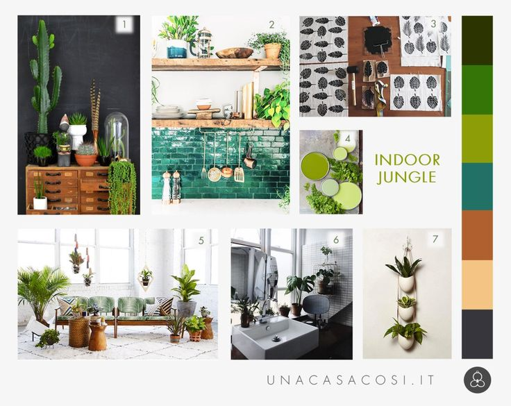 Interior trend: una giungla in casa - Moodboard indoor jungle