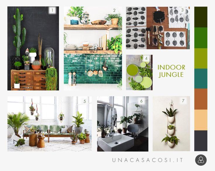 Interior trend: una giungla in casa - Moodboard indoor jungle