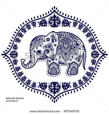 Indian Elephant Stock Vectors & Vector Clip Art | Shutterstock