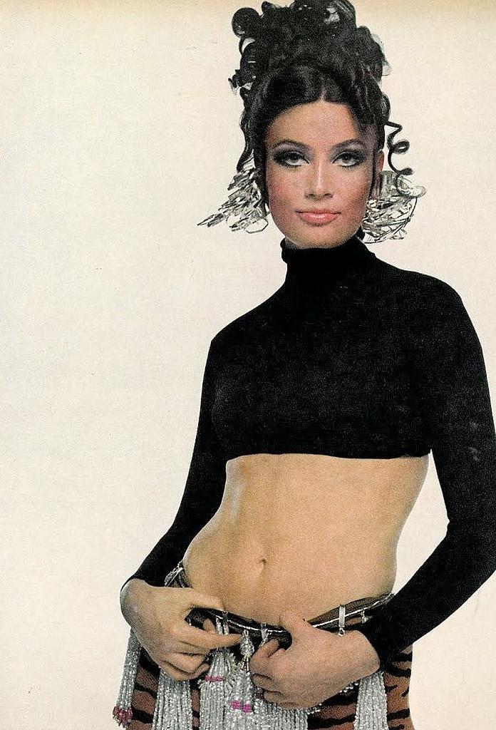 Actress Marisa Mell, photo by Bert Stern, Vogue 1968.  Marisa Mell was an Austrian actress who became a cult figure of 1960s Italian B-movies. She was born as Marlies Theresa Moitzi in Graz, Austria.