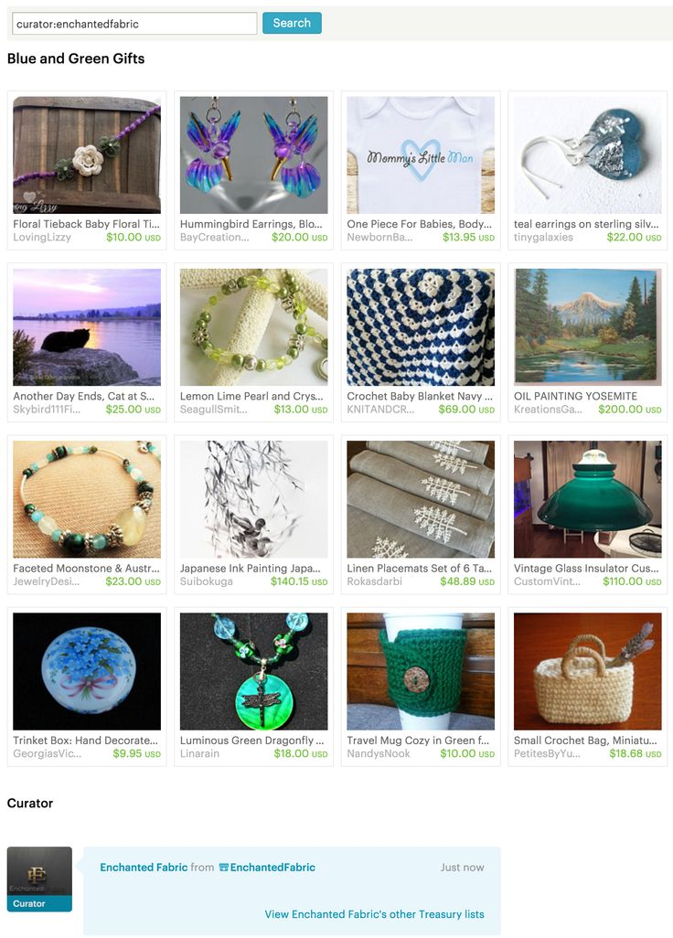 Blue and Green Gifts - #Etsy Treasury by #EnchantedFabric