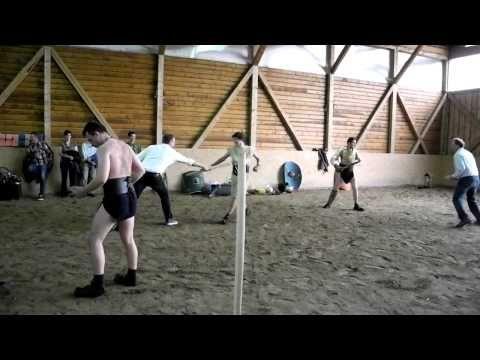 Virtus Antiqua - Gladiatorial training for team building events - YouTube