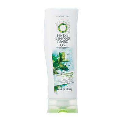 Herbal Essences Naked Volume Shampoo THE SCOOP: Introducing a look-healthy formula that's free of dyes, parabens and heavy residues, that'll have your  locks sporting va-va-volume, superior shine and much needed moisture.* *When used with Herbal Essences Naked  Conditioner Also available: Herbal Essences Naked Volume Conditioner and Volumizing Souffle