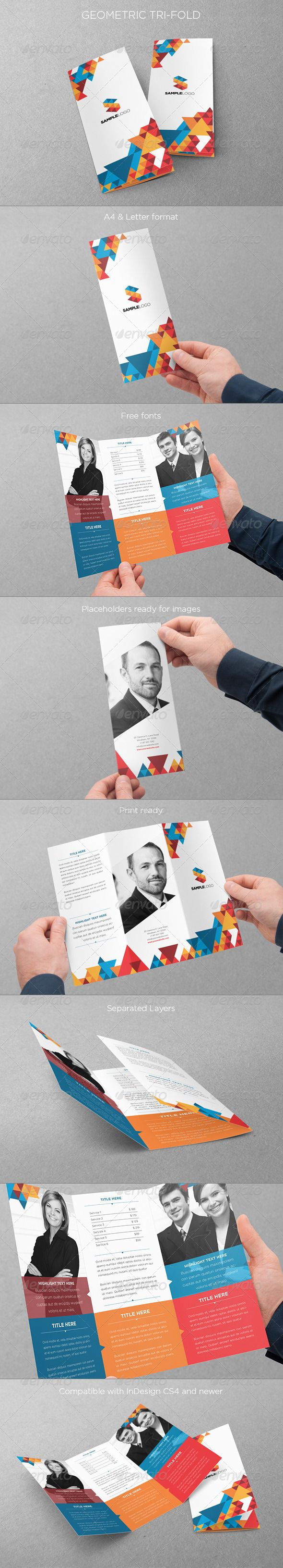 Geometric Trifold - Brochures Print Templates
